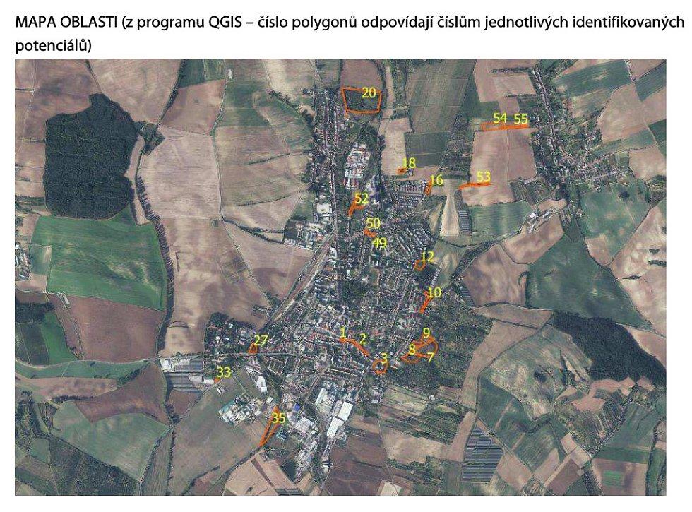 """Mapa """"potenciálů"""" Kyjova za obor přírodních věd"""