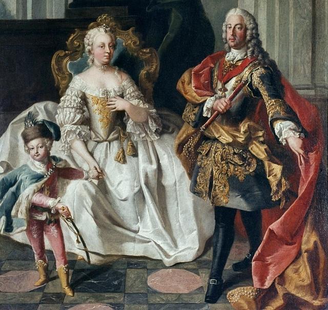 Budoucí císař Josef II. srodiči