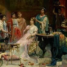 Otrokyně sloužící římské dámě