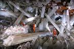 Cueva de los Cristales - Jeskyně krystalů v Naica, Mexiku