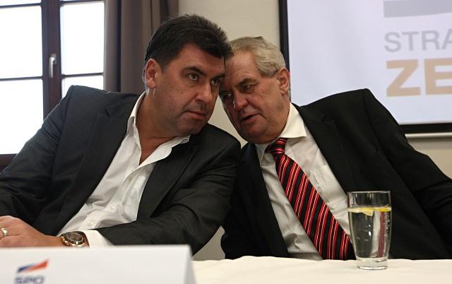 Martin Nejedlý a prezident Miloš Zeman