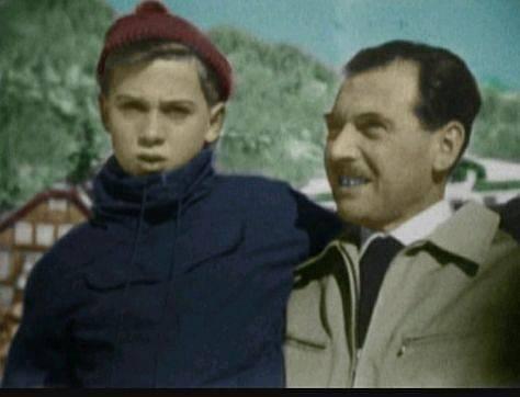 Rolf Mengele se svým otcem Josefem.