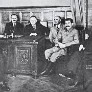 Edvard Beneš na návštěvě v Moskvě.