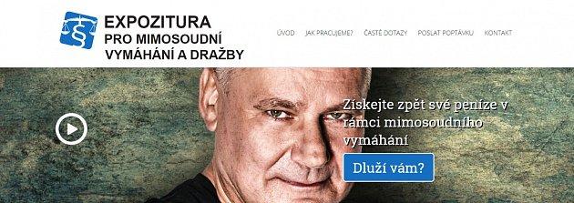 Jiří Kajínek vreklamě vymahačské firmy