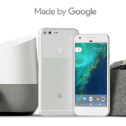 Made by Google: Google Wifi, Chromecast media player, Home speaker, Pixel phone a Daydream