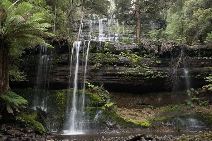 Vodopády Russell Falls a Mount Field