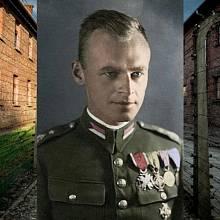 Witold Pilecki (kolorovaná fotografie - T.Bór Komorowski)