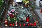Náhrobek Jana Palacha se nachází v Praze na Olšanských hřbitovech
