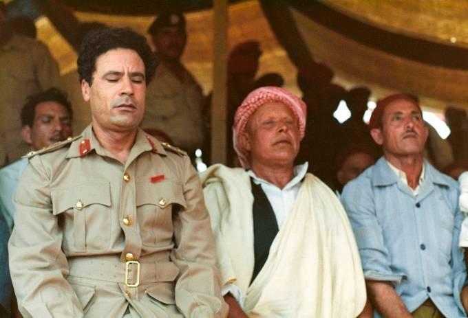 Muammar Kaddáfí v mladších letech
