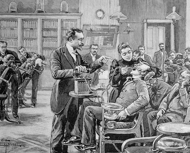 Díky plnému zavedení amalgámu kolem roku 1880se péče ochrup výrazně zlepšila.