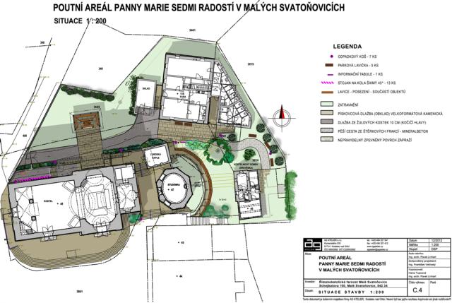 Projekt revitalizace poutního místa Malé Svatoňovice zachovává komorní rodinný charakter areálu
