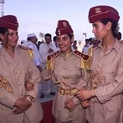 Ochranky Muammara Kaddafího vypadala jako skupina kandidátek na Miss World