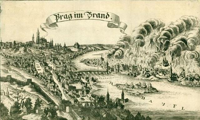 Požár Prahy vroce 1689