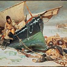 Zkáza Franklinovy expedice - kresba z 19. století