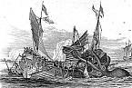 Mořská nestvůra s velkýma očima na kresbě z 19. století