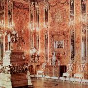 Jediná dochovaná barevná fotografie původní jantarové komnaty