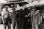 Jedna z obětí proticírkevního tažení, rektor Svaté Hory Josef Hynek (snímek z roku 1947). V roce 1951 byl odsouzen za údajnou velezradu na 12 let vězení