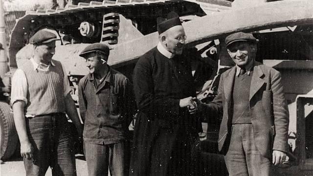 Rektor Josef Hynek v roce 1947