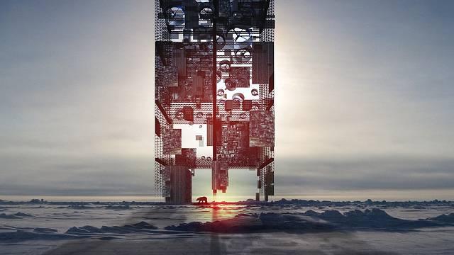 Výšková stavba umístěná na zemském pólu by měla fungovat jako obrovská klimatizace a zároveň zdroj obnovitelné energie. (Čestné uznání)