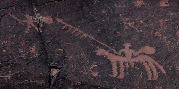 Ilustrační foto: Ukázka prehistorického skalního umění, Údolí řeky Draa,Maroko