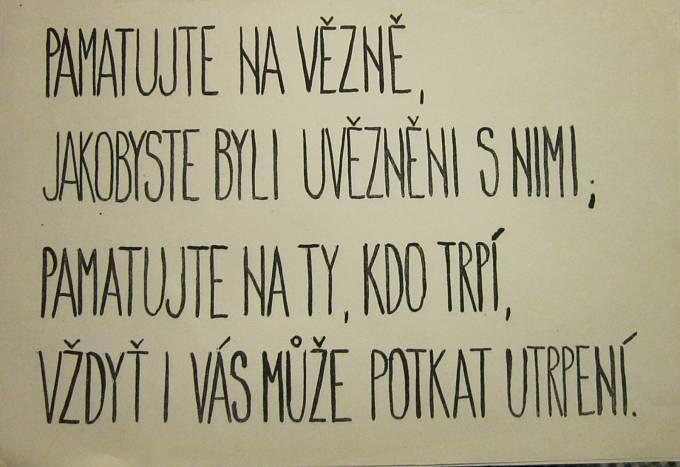 Text plakátu používán při protirežimních demonstracích