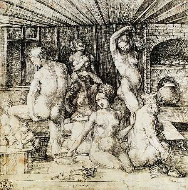 Ilustrační foto, Albrecht Albrecht Dürer: 'Frauenbad' (Ženy vkoupeli)