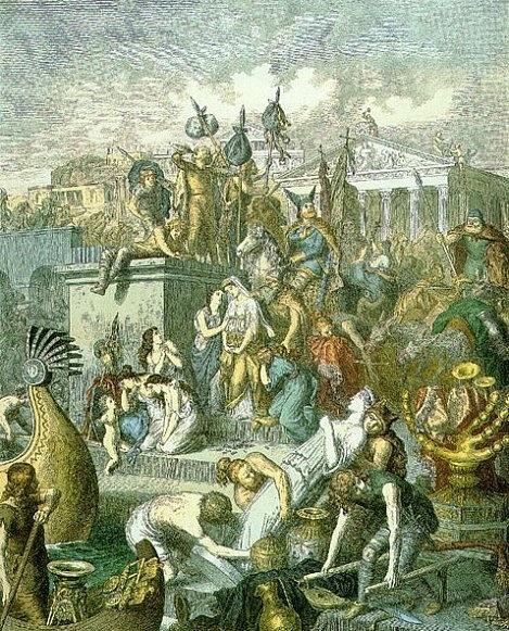 Vandalové plení Řím vroce 455.