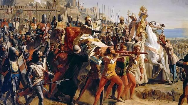 Král Balduin v bitvě o Kerak