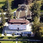 Otáčivé hlediště v zahradě krumlovského zámku