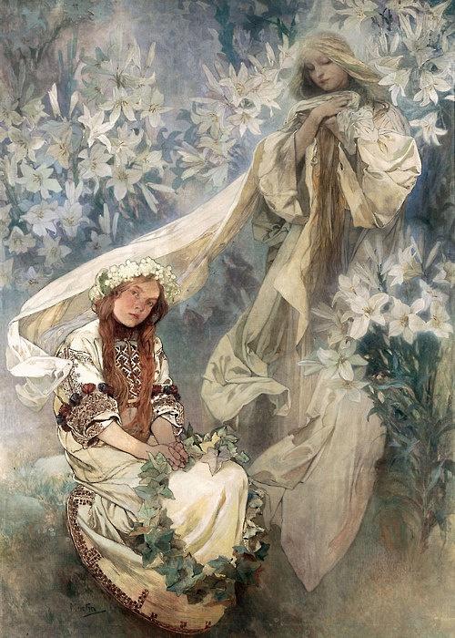 Alfons Mucha: Madona vliliích (1905)