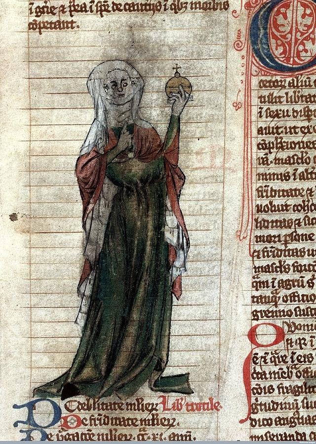 Středověká kresba zachycující italskou lékařku Trotu