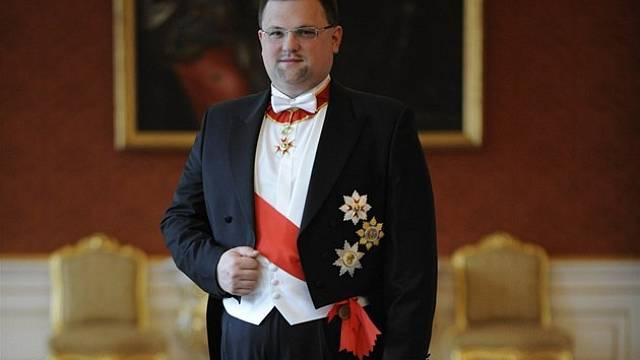 Hrdý ceremoniář Jindřich Forejt se svatořehořským řádem od papeže