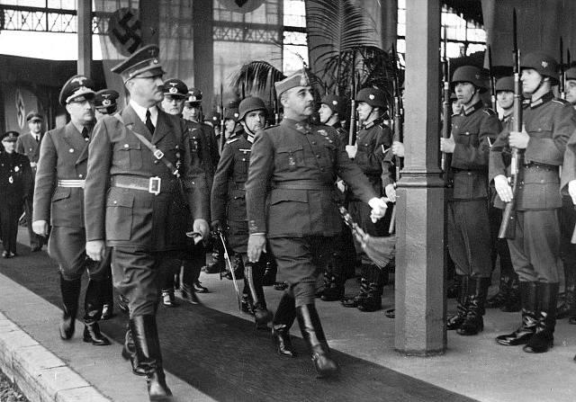 Francisco Franco s Adolfem Hitlerem