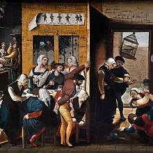 Výjev z nizozemského nevěstince, neznámý autor, 1537