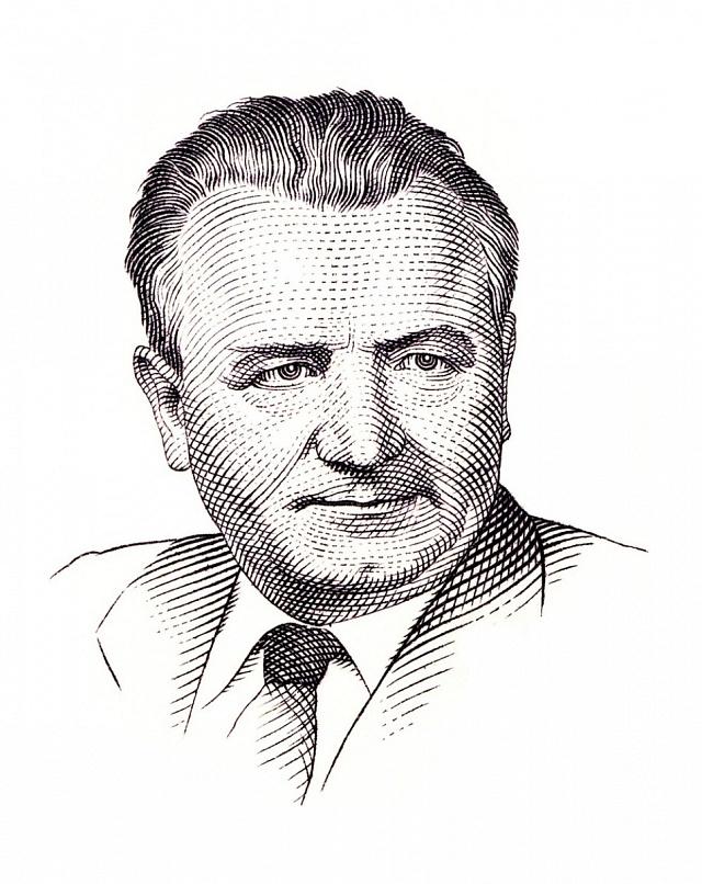 Prezident Klement Gottwald - revolucionář to dotáhl až na poštovní známky