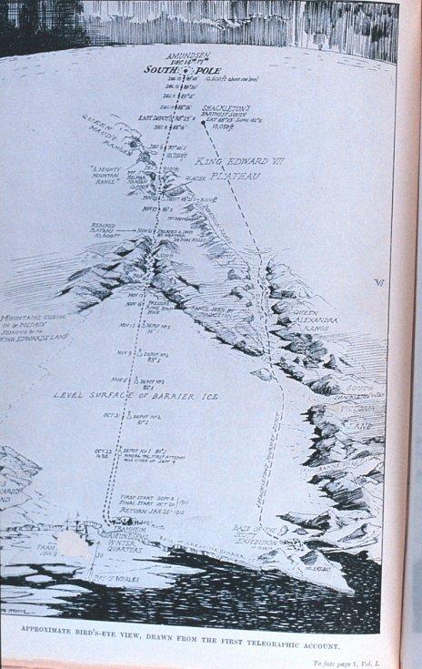 Trasa expedice Nimrod z roku 1909