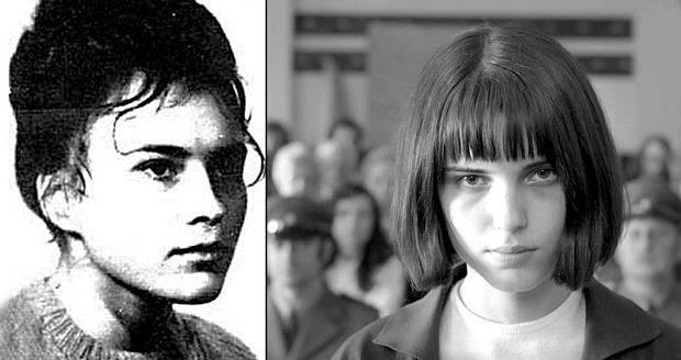 Porovnání Olgy Hepnarové a herečky Michaliny Olszańské, která ji ztvárnila ve filmu