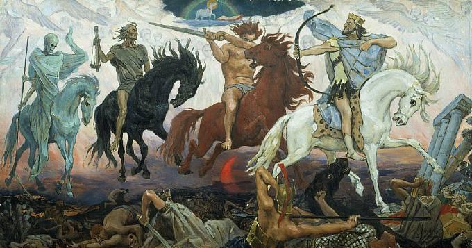 Viktor Vasnetsov: Čtyři jezdci Apokalypsy