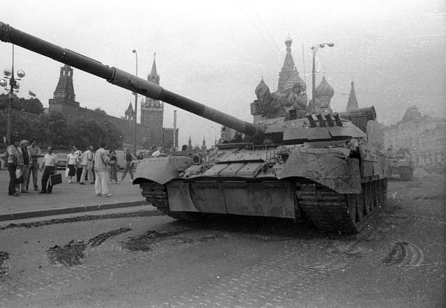 Tanky vulicích Moskvy 19.8.1991