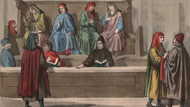 Středověké soudy se řídily zvykovým právem a vlastní úvahou.
