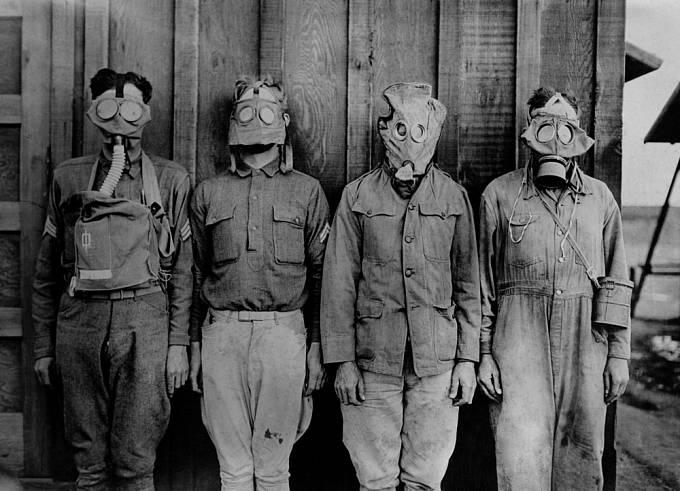 Plynové masky za 1. světové války
