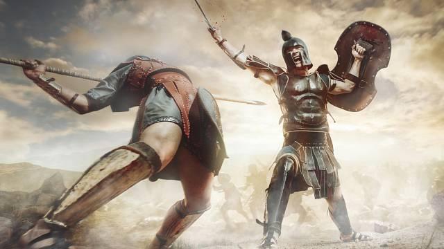 Starověký bojovník při zápase