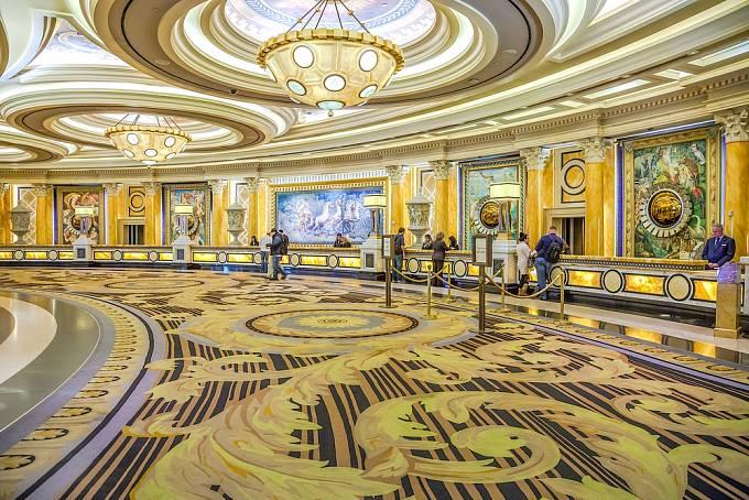 Lobby hotelu v Caesar's Palace