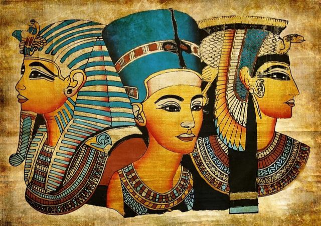 Egypťané si potrpěli na paruky, pokrývky hlavy ifalešné vousy.