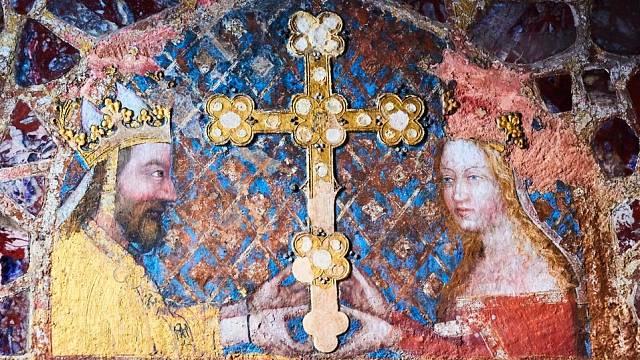Karel IV. s manželkou Annou Svídnickou