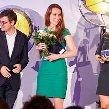 Mluvčí roku se stala Jitka Němečková z Plzeňského prazdroje (uprostřed)