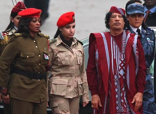 Muammar Kaddáfí se obklopoval ženskou ochrankou.