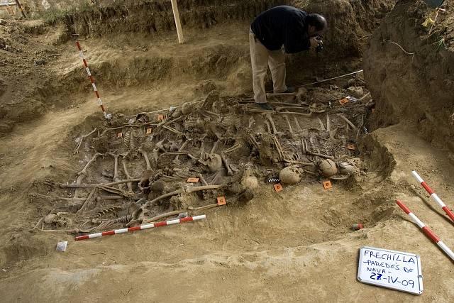 hromadný hrob ze Španělské občanské války (1936-1939)