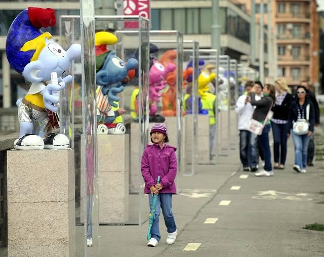 V roce 2011 se v Praze konala výstava Šmoulů