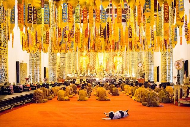 Wat Chedi Luang Worawihan – chrámový komplex z15. století, jeden ze symbolů Chiang Mai